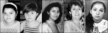 Gestorben durch die Anschläge von Solingen am 29. Mai 1993: Hülya Genç (9), Saime Genç (4), Hatiçe Genç (18), Gürsün Ince (27), Gülistan Öztürk (12)